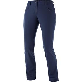 Salomon Wayfarer Straight LT Spodnie Kobiety niebieski